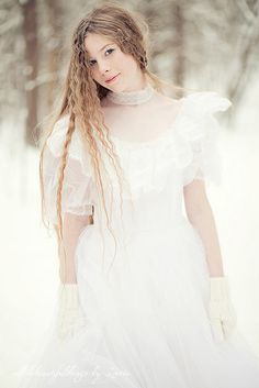 I'm Dreaming of a White Christmas. by loretoidas Winter Fairy, Elves And Fairies, Mob Dresses, Shades Of White, Wedding Bridesmaid Dresses, Costume, Queen, Winter White, White Fashion