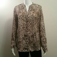 NWOT NY Collection Animal Print Pullover Top NWOT NY Collection Animal Print Pullover Top NY Collection Tops Blouses