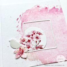 papierZART: Kommunion, Konfirmation, Mädchenkarte, Kirschblüten, Cherry Blossoms, Glaube, Kirche, Alexandra Renke, aRTeam