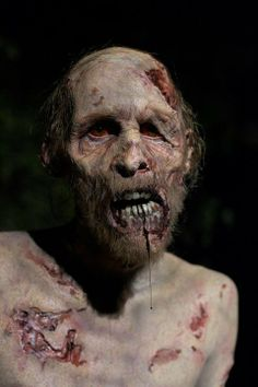 The Walking Dead Behind the Scenes Photos Walker (Kevin Galbraith) makeup by Kevin Wasner (Special FX Makeup Artist)