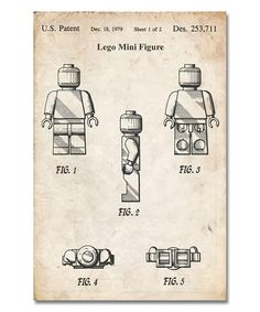 Look at this Vintage Parchment Lego Mini Figure Patent Print on #zulily today!