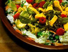 Salada de Abacate ao molho de framboesa