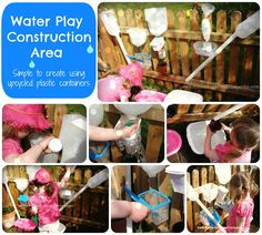 DIY Water Wall Outdoor Construction Area - made from Recycled Items Kids Outdoor Play, Outdoor Play Areas, Outdoor Activities For Kids, Outdoor Learning, Summer Activities, Outdoor Fun, Science Activities, Outdoor School, Outdoor Stuff
