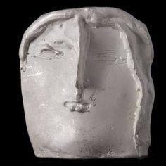 Antonio Pujia: Roman head, 1972. Silver Pendant.