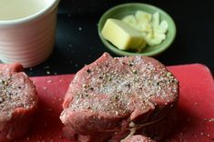 how to cook filet mignon at home just as good as the best steak house or fine dining restaurant - recipe and how-to photos Filet Steak, Filet Mignon Steak, Valentines Steak Recipe, Sous Vide Filet Mignon Recipe, Perfect Filet Mignon, Whole Beef Tenderloin, Restaurant Steak, How To Cook Steak