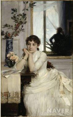 <기다림 by 조르주 칼로> 아름다운 여인이 사랑하는 사람의 소식을 기다리고 있는 모습이다.