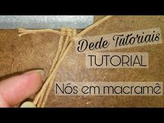 Galhos: https:& Folhas: https:& Macramê Simples: https:& Magnífica Árvore: https:& Hand Embroidery Videos, Macrame Tutorial, Macrame Patterns, Friendship Bracelets, Knots, Diy And Crafts, Make It Yourself, How To Make, Paracord
