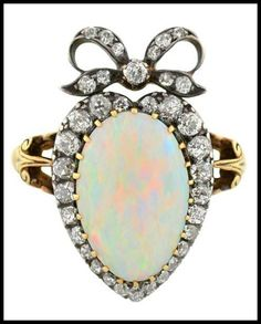New blog post on DiamondsintheLibrary.com! The antique opal ring of your dreams. http://ift.tt/1ItUk9t