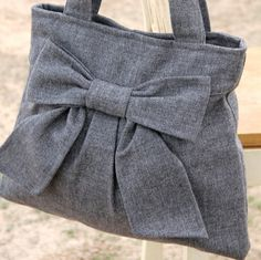 Book Bag / Purse Medium Gray  by peacelovenpolkadots, $60.00