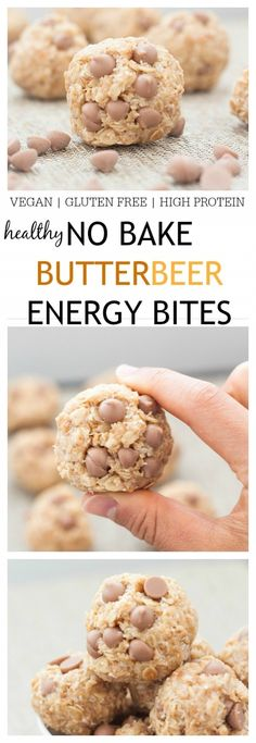 No Bake Butterbeer Energy Bites- A delicious, no bake snack sized treat which is perfect pre workout or a snack anytime throughout the day! Made in one bowl and ready in under 10 minutes, these are gluten free, vegan, refined sugar free, low in fat and very high in fiber- Inspired by the Harry Potter famed beverage butterbeer! @thebigmansworld - thebigmansworld.com