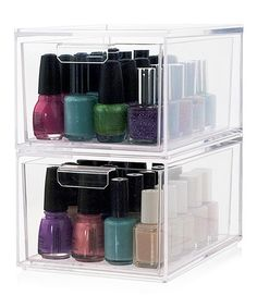 U.S. Acrylic Audrey Drawer Cosmetic Organizer - Set of Two | zulily