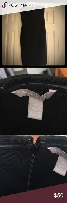 Banana Republic Black Strapless Dress Gorgeous, classy, strapless dress from BR. Only been dry cleaned. Excellent care taken. Perfect condition Banana Republic Dresses Strapless