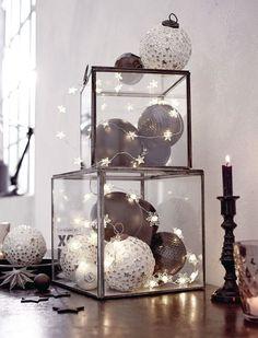 Verwende LED-Weihnachtsbeleuchtung um deiner Deko das kleine Bisschen extra zu geben… 8 BEZAUBERNDE Beispiele! - DIY Bastelideen