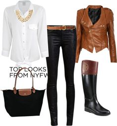 Fall outfit.Love the colors and the riding boots.
