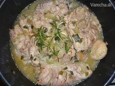 Dusené kuracie stehná (fotorecept) Pork, Meat, Kale Stir Fry, Pork Chops