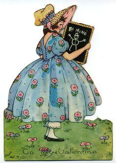Girl with Chalkboard-c.1920