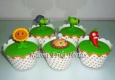 Kaomi Friki Tortas: Cupcakes de Plantas vs Zombies