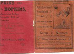 1913 All-Ireland SF final programme - Kerry v Wexford Dublin, Programming, Finals, Ireland, Books, Libros, Book, Final Exams, Irish