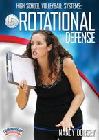 High School Volleyball Systems: Rotational Defense #volleyball #practice #coach #becomeyourbest