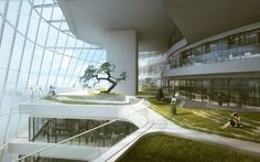 MAD Architects Design Veiled Xinhee Design Center in Xiamen,Courtesy of MAD…
