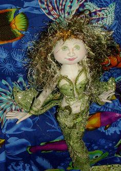 Green Eyed Mermaid Doll by beadingbetz on Etsy