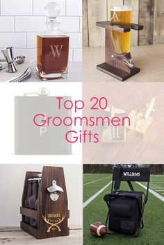 Thank your groomsmen with the perfect personalized gift!