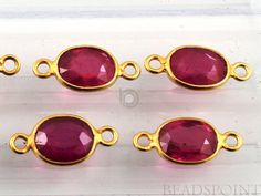 Natural Genuine Ruby AAA Precious Gemstones Rich by Beadspoint, $20.99