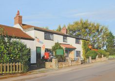 Clayworth Post Office by Graham Clark, Oils on board