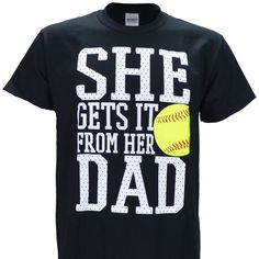 "Cotton Pre-Shrunk ~ Sizing is unisex which runs ""normal"" not small ~ High quality screen print that will last a long time! Softball Memes, Softball Crafts, Softball Shirts, Girls Softball, Fastpitch Softball, Softball Players, Sports Shirts, Softball Stuff, Softball Cheers"