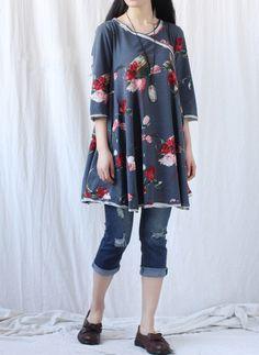 gorgeous Women babydoll long sleeve dress/ cotton by MaLieb, $89.00 Why pay $89? Make it!