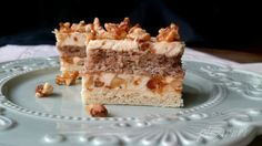 Prajitura Kranz (Griliaj) Romanian Food, Romanian Recipes, Square Cakes, Vanilla Cake, Tiramisu, Caramel, Recipies, Cheesecake, Candy