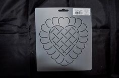 Stencil-Quilt-Art-376-Feather-Heart-Design-Block-6