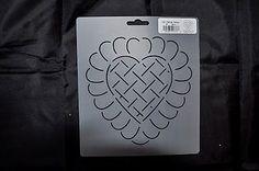Stencil-Quilt-Art-376-Feather-Heart-Design-Block-6