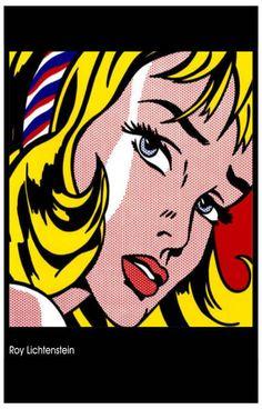 Roy Lichtenstein Girl with Hair Ribbon Pop Art Poster 11x17