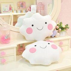 Kawaii cute clouds throw pillow cushion gift
