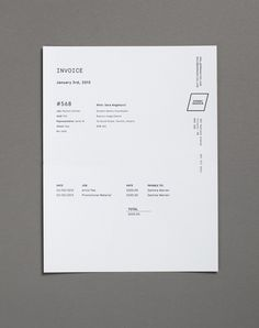 Invoice design - Love this! Looking to achieve the same sense of cohesiveness across all branded / business documents.