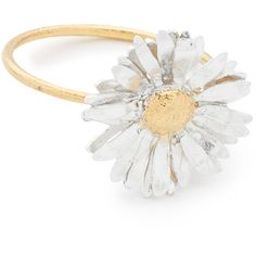 Alex Monroe Big Daisy Ring ($225) ❤ liked on Polyvore featuring jewelry, rings, accessories, daisy ring, alex monroe, daisy jewelry, alex monroe rings and alex monroe jewelry