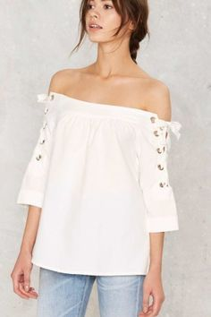 We love the off-the-shoulder look. Shop our favs from Nasty Gal on Keep now!