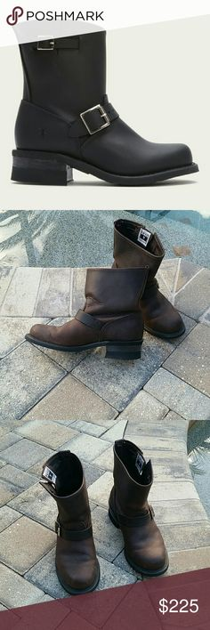 Frye Engineer Boots 8 M EUC In excellent condition with an oil resistant bottom all leather upper. Color is brown. No trades and no low-ball offers will be dignified with a response. Use button to make an offer if interested please. Frye Shoes Ankle Boots & Booties