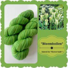 Bloembollen - Dutch Flowers | Red Riding Hood Yarns On October 3rd, Bulb Flowers, Red Riding Hood, Yarns, Holland, Dutch, Initials, Green, The Nederlands