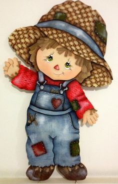 Tole Painting, Fabric Painting, Fall Scarecrows, Arte Country, Cute Clipart, Country Paintings, Fall Cards, Applique Patterns, Cute Illustration