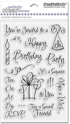stampendous party invite - Google Search