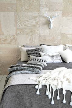 Plywood square wall deco, great!