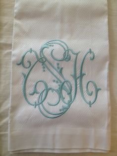 Number Four Eleven....company that does beautiful custom Monogramming.