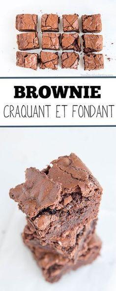 Ce brownie à la fois fondant et croustillant grâce à son extérieur ravira tous les amateurs de chocolat. A essayer pour changer des brownies secs et pauvres en goût que vous croisez parfois.