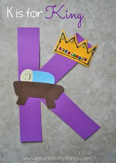 Pre-K K is for King Alphabet Craft Tips On Talking To Kids About Not Smoking Any time parents spend Preschool Letter Crafts, Alphabet Letter Crafts, Abc Crafts, Preschool Christmas Crafts, Classroom Crafts, Preschool Activities, Letter Tracing, Alphabet Games, Alphabet Design