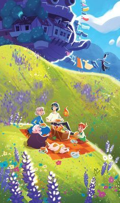 Print   Howl's Moving Castle: Picnic With Sophie