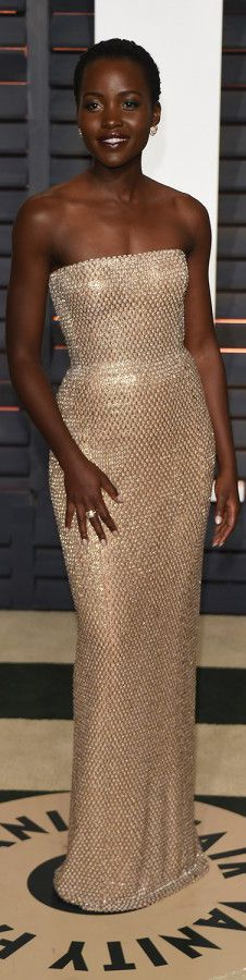 Lupita Nyong'o in Calvin Klein Collection | cynthia reccord