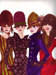 Izak Zenou - fashion illustration