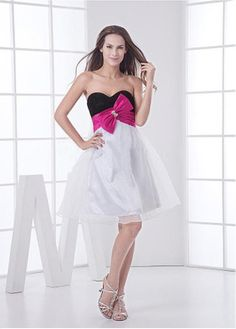 Wonderful Sweetheart A-line Knee-length Bubble Black White Special Occasion Dresses